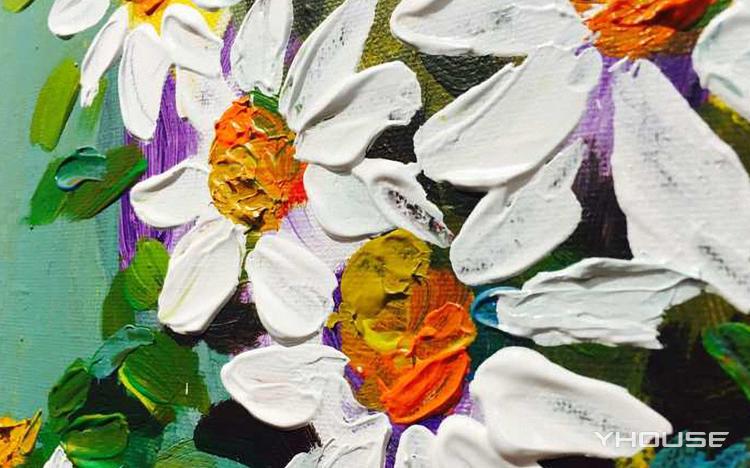 一起到聚绘画一幅小清新的花卉油画