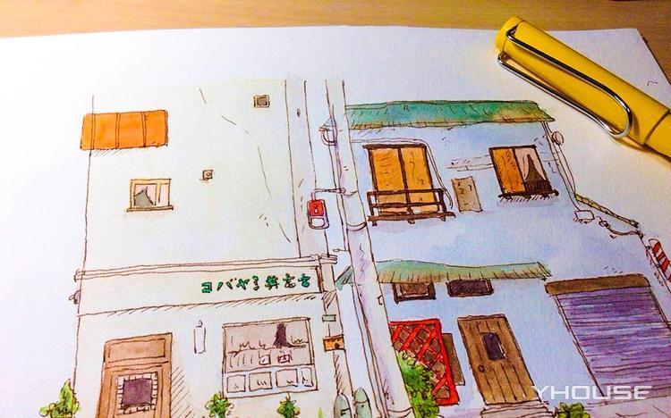 轻松学会钢笔淡彩 画出身边的美丽风景