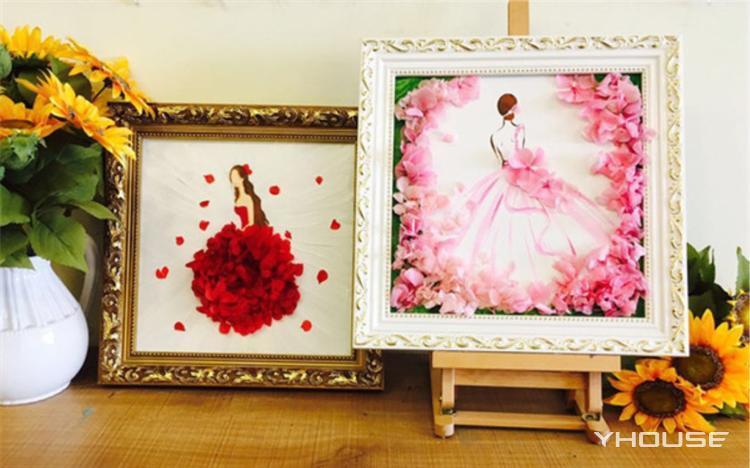 做一个精致高雅的花美人 DIY创意永生花&油画课程