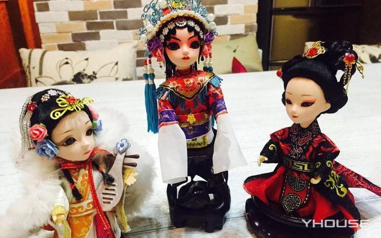 精致手工人偶 传统老北京绢人
