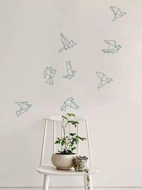 贴出简单的几何形状就能画出简约大方的美感 没有美术功底也能轻松图片