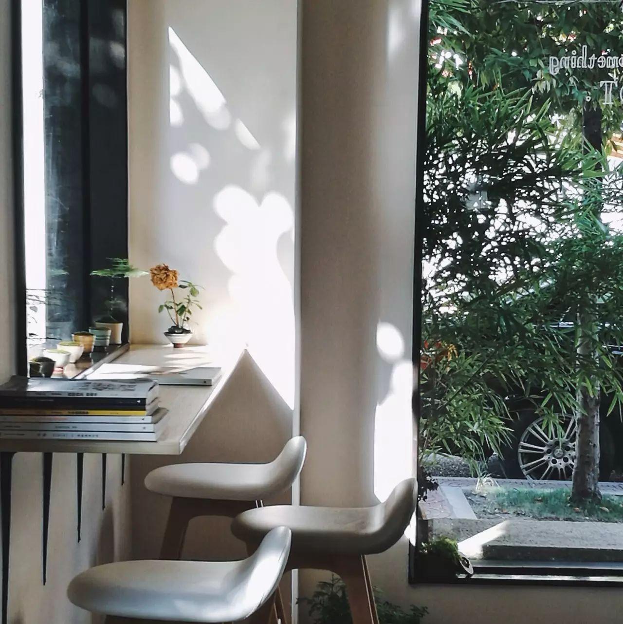 藏在植物中的玻璃咖啡馆