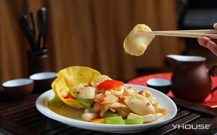 在五星级酒店里吃午餐 沈阳香格里拉酒店夏宫中餐厅双人商务套餐