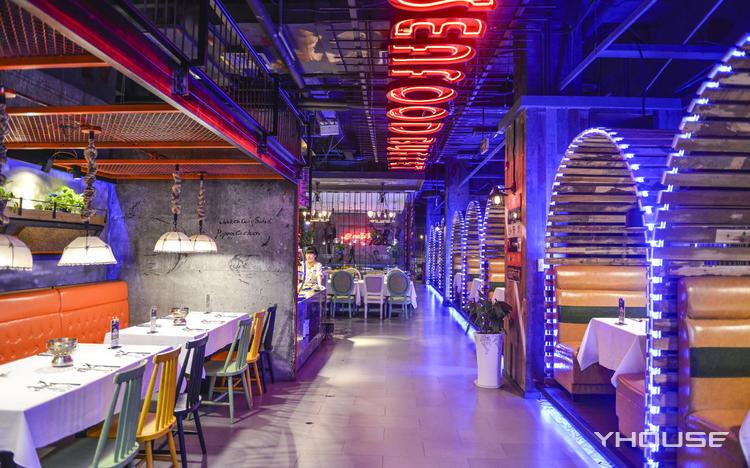 悦四海牛排海鲜自助音乐餐厅(银泰城),自助餐,地址